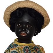 German Black Bisque Head Character Doll by Simon & Halbig