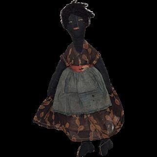 Black Cloth Lady Doll in Original Costume