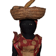 Jamaican Black Cloth Doll in Original Costume