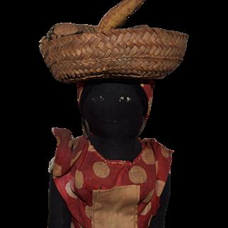 Jamaican Black Cloth Doll in Original Costume