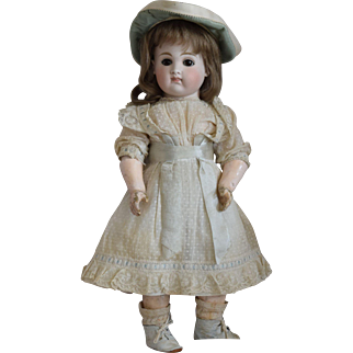 Early Kestner Closed Mouth Bisque Head Child Doll