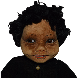 Norah Wellings English Cloth Brown Character Doll