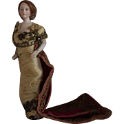 German Bisque Doll House Lady in Original Costume