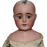Antique Bisque Shoulder Head Doll with Kid Leather Body