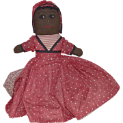 Vintage Topsy Turvy Cloth Doll with Black and White Faces