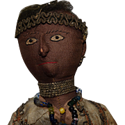 Brown Cloth Doll in Ethnic Costume