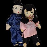 Cloth Chinese Dolls in Original Box