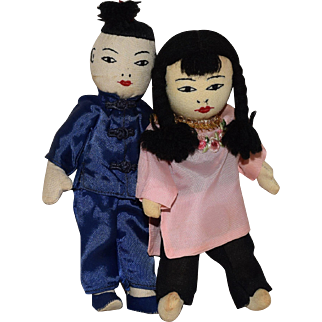 Cloth Chinese Dolls in Original Box
