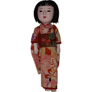 Japanese Gofun Doll in Original Costume