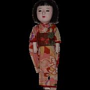 Japanese Gofun Doll in Original Costume