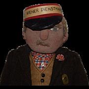 "All Original German Stockinet ""Wiener Dienstmann"" Doll"
