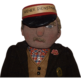 "All Original German Stockinet ""Wiener Dienstmann"" Doll"