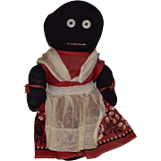 Vintage Folk Art Black Sock Doll