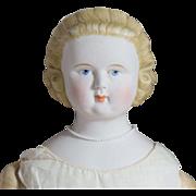 Large Antique German Bisque Parian Doll