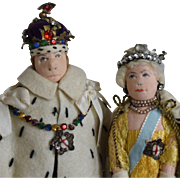 Liberty of London Coronation Cloth Dolls King George VI and Queen Elizabeth
