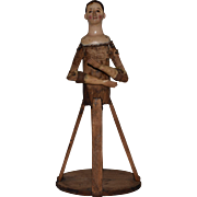 Early Neapolitan Wooden Cage Doll