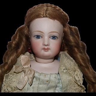 Jumeau Poupee Peau French Fashion Doll in Original Couture Costume