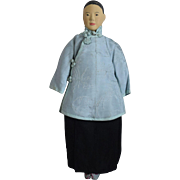 Early Chinese Door Of Hope Wooden Doll