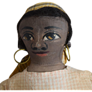 Maude Witherspoon Folk Art Cloth Doll with Oil Painted Face