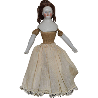 Petite China Head Doll House Size Lady Doll
