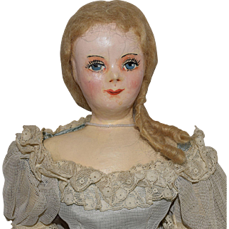 Vintage Southern Belle Oil Painted Cloth Doll