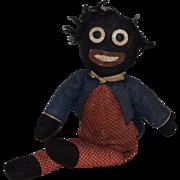Antique Cloth Black Folk Art Doll