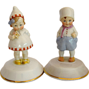 German Dutch Children China Trinket Boxes