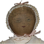 Early Moravian Cloth Polly Heckewelder Benefit Doll