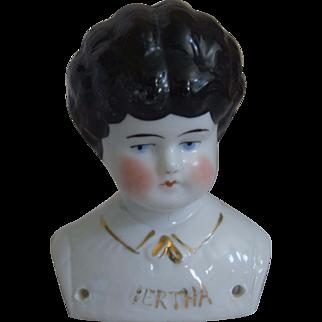 "German Pet Name China Head ""Bertha"" by Hertwig & Company"
