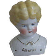 "German Pet Name China Head ""Dorothy"" by Hertwig & Company"