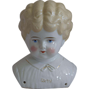 "German Pet Name China Head ""Edith"" by Hertwig & Company"