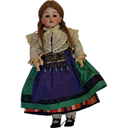 Schoenau & Hoffmeister German Bisque Head Doll in Antique Ethnic Costume