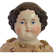 German Kestner Flat Top China Head Doll