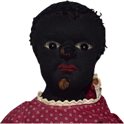 Black Stockinet Beecher Type Baby in Red Dress