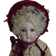 Portrait Jumeau French Bisque Head Doll