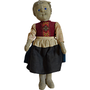 Steiff German Girl Felt Child Doll