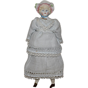Hertwig Bisque Head Doll with Molded Hat