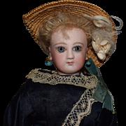 French Bisque Head Young Lady Fashion Doll Jumeau Poupee Peau