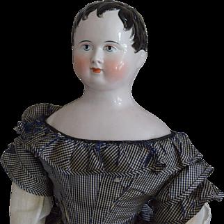 Fabulous German China Head Kinderkopf Doll by Kestner