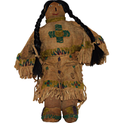Early Vintage Buckskin Plains Native American Doll