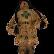 Early Vintage Buckskin Plains Native American Doll