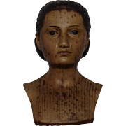 Early Carved Wooden Head