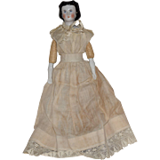German Conta & Boehme China Head Doll with Fancy Hairstyle
