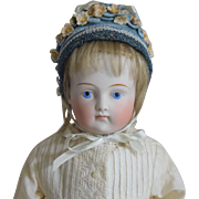 German Bisque Solid Dome Shoulder Head Doll
