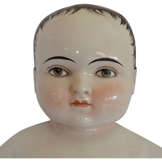 German Badekinder Frozen Charlie China Doll with Brown Eyes