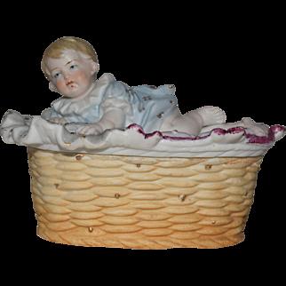 Victorian German Bisque Trinket Box