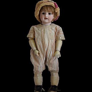 Gebruder Heubach Bisque Head Character Girl Doll
