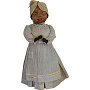 Antique Cloth Brown Folk Art Bottle Doll