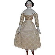 German Modified Covered Wagon China Head Doll