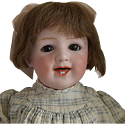 Laughing Heubach German Bisque Head Character Doll